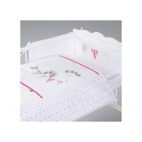POSTELJINA ZA BEBE SET 5  DELOVA NIGHT BIRDS PINK